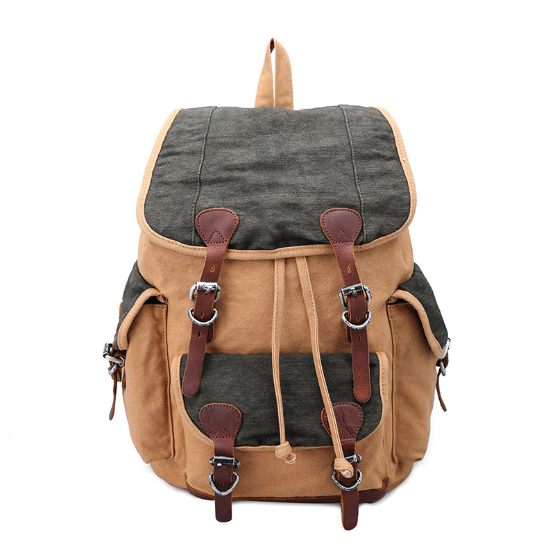 Canvas Leisure Rucksack Multi-Function Bag Shoulder Straps School Bag Laptop Backpack