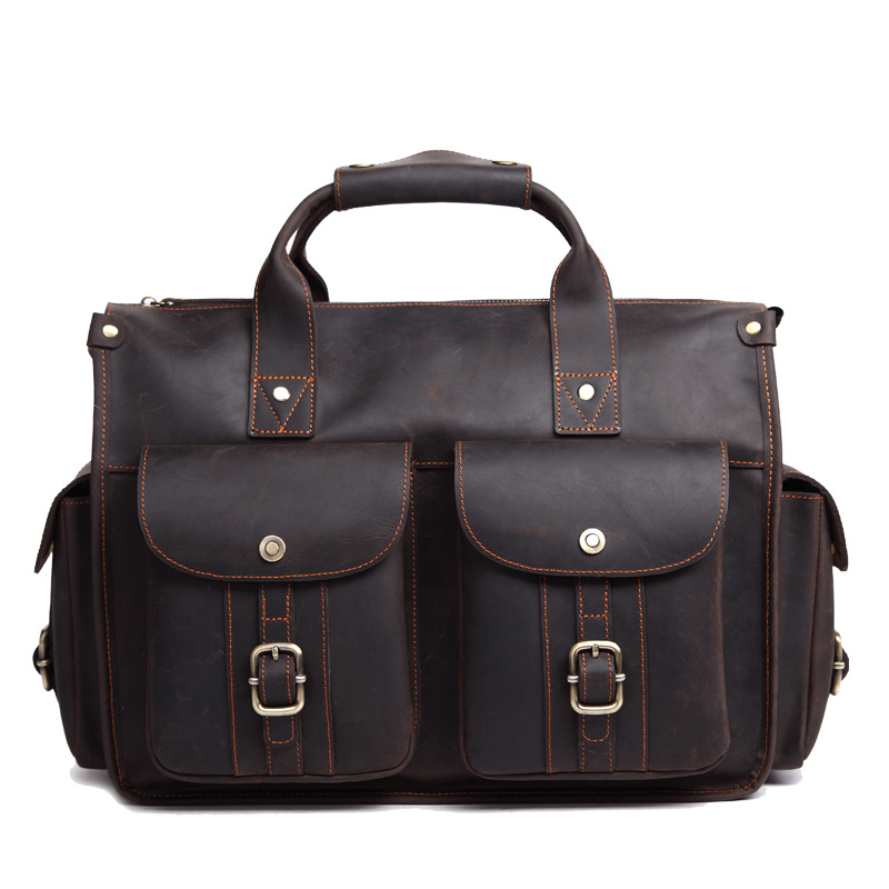 Fashion Hot Sale Messenger Bag Genuine Leather Business Handbag Men Briefcase 8649