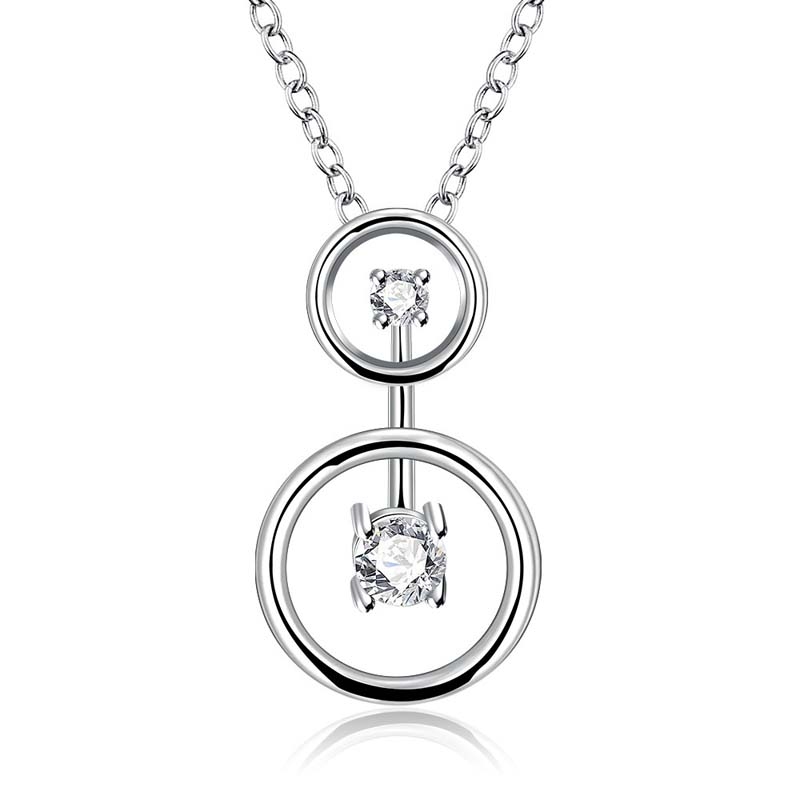High-end Jewelry Necklace Unique Fashion Pendant Silver Plated Necklace & Pendan