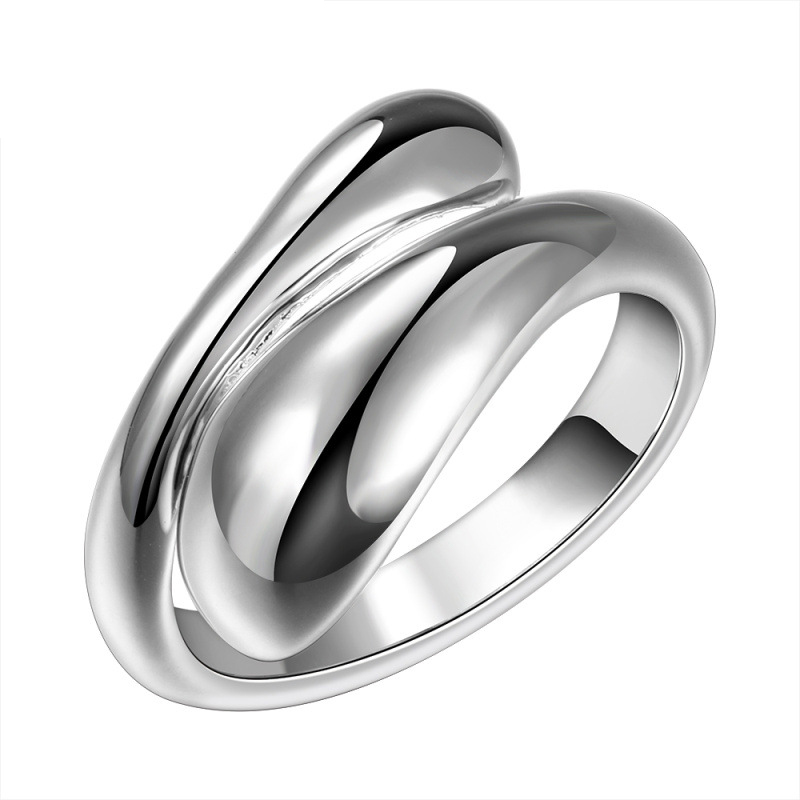 Double Round Head Ring-Opend Ring for Women