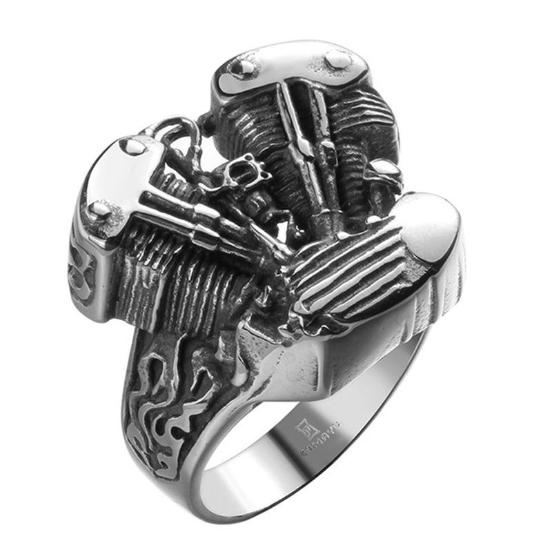 Fashion Men's 316L Stainless Steel Ring Punk Jewelry Gift Gothic Style R145