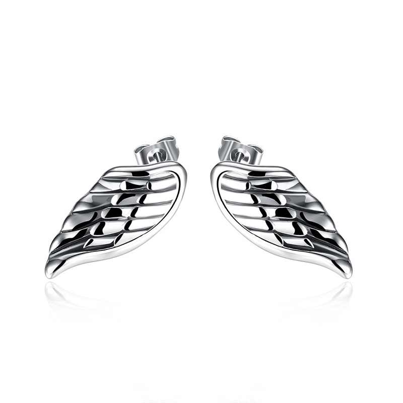Fashion Wing Earrings Punk Retro Titanium steel Earrings for Women E005