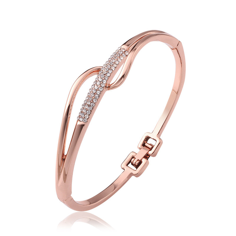 Adjustable Rose Gold Plated Bracelet Fashion Jewelry for Girls