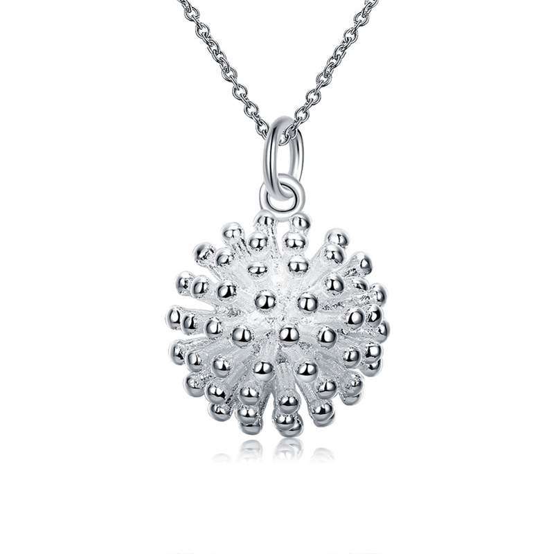 925 Sterling Silver Round Ball Cute Pendant for Girls