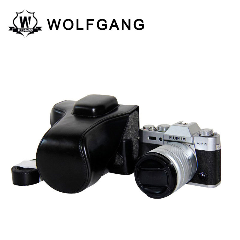 WOLFGANG Camera Leather Cover Protective Camera Bag For X-T10 XT10 X-T1 XT1