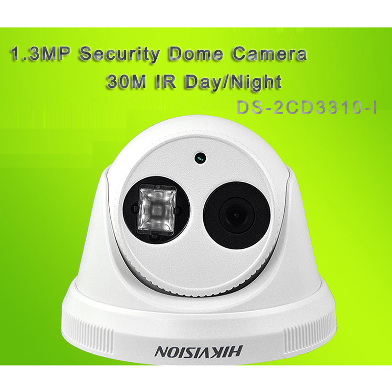 1.3MP Security Dome Camera Support POE With 30M IR Day/Night DS-2CD3310-I